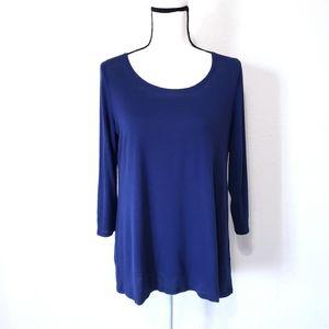 White House Black Market 3/4 length sleeve blue M